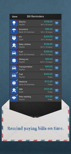 Bills Monitor расходы